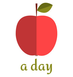 apple a day poster vector image vector image