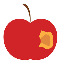 Apple with a bite or color vector