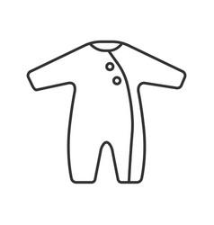 Baby romper linear icon vector