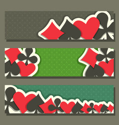 Banner for poker game vector