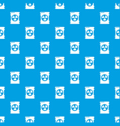 barrel danger pattern seamless blue vector image