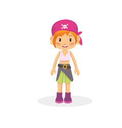 beautiful pirate girl vector image