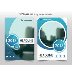 blue abstract circle brochure flyer annual report vector image