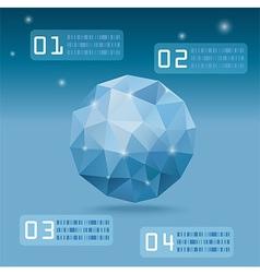BlueOrganicPolygon vector image