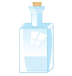 Bottle from glass vector image