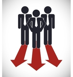 Businesspeople with arrow icon Business design vector