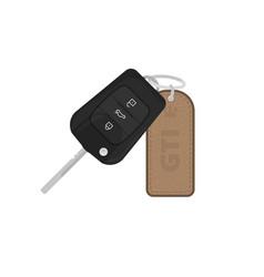 car keys with trinket vector image