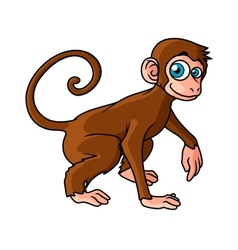 Cartoon brown monkey character vector image