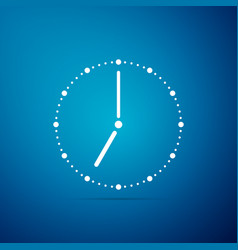 clock icon isolated on blue background vector image