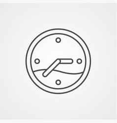 clock icon sign symbol vector image