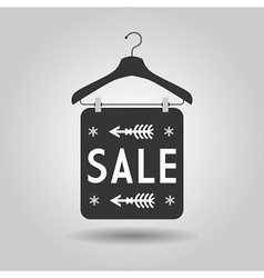 Clothing hanger SALE signage and banner icon vector image