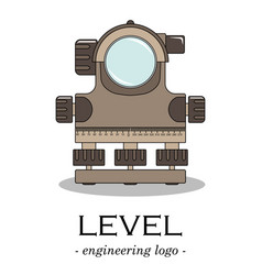 Color engineering logo of a level vector