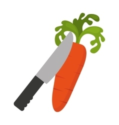 Cooking vegetarian food icon vector