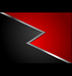 corporate abstract red and black background vector image