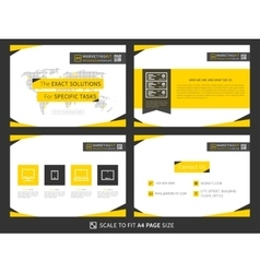 Corporate presentation template vector image