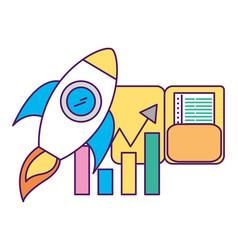 Development startup folder statistics chart vector