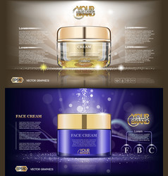 Digital glass face cream brown and purple vector