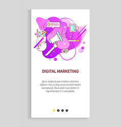 digital marketing innovative way advertisement vector image