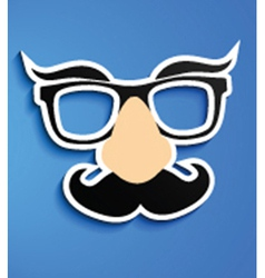 Disguise glasses vector image