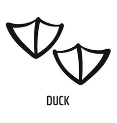 Duck step icon simple style vector
