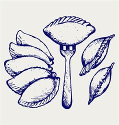 Dumplings food set vector image vector image