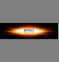 explosion magic power light effect electric vector image