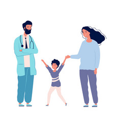 family doctor pediatrician hospital happy boy vector image