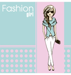 Fashion girl vector image vector image