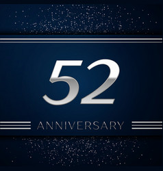 fifty two years anniversary celebration logotype vector image