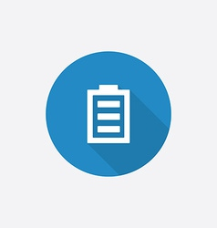 full battery Flat Blue Simple Icon with long vector image