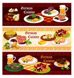 german cuisine restaurant banner for menu design vector image