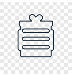 gift concept linear icon isolated on transparent vector image