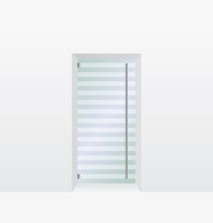 Glass door vector image