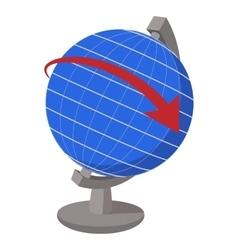 Globe cartoon icon vector
