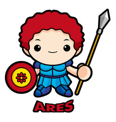 God of war ares character mars character olympus vector