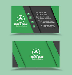 green black visiting card business cards vector image