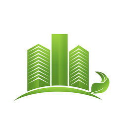 Green real estate town logo vector