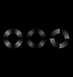 Halftone circle dots frame set halftone pattern vector