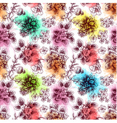 Hand drawn seamless pattern with vector