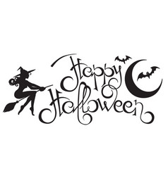 happy halloween text 2 vector image