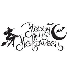 Happy halloween text 2 vector