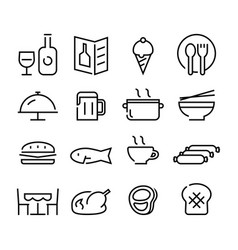 icon food and beverage vector image