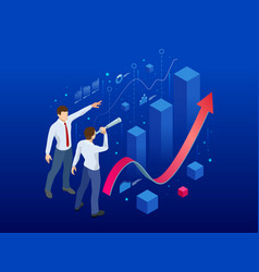 isometric affiliate business business perspective vector image