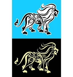 Lion cutting sticker vector image