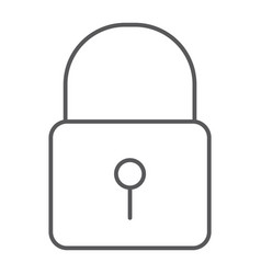 lock thin line icon security and padlock vector image