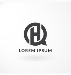 logo design with combination letter h vector image