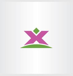 man winner letter x logo icon symbol vector image