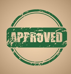 old round stamp approval vector image