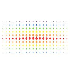 Opium poppy spectrum halftone array vector