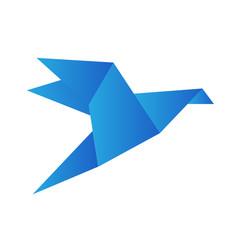 origami bird crane isolated on white stock vector image
